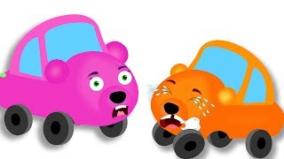 Mega Gummy Bear Cars crying MILK Tooth FELL OUT finger family rhymes for Kids