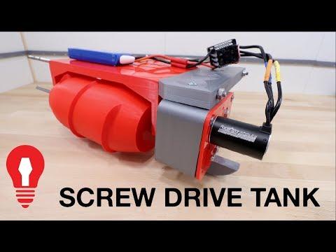 SCREW DRIVE RC TANK #1 - POWER TRAIN TESTING