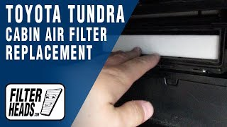 How to Replace Cabin Air Filter 2010 Toyota Tundra