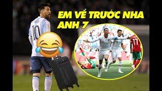 Tin nóng World Cup 2018 | Messi muốn xách vali về nước sớm sau khi Ronaldo ghi bàn siêu hài
