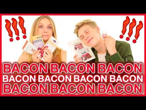 Weird Bacon Flavored Foods?! Taste Test