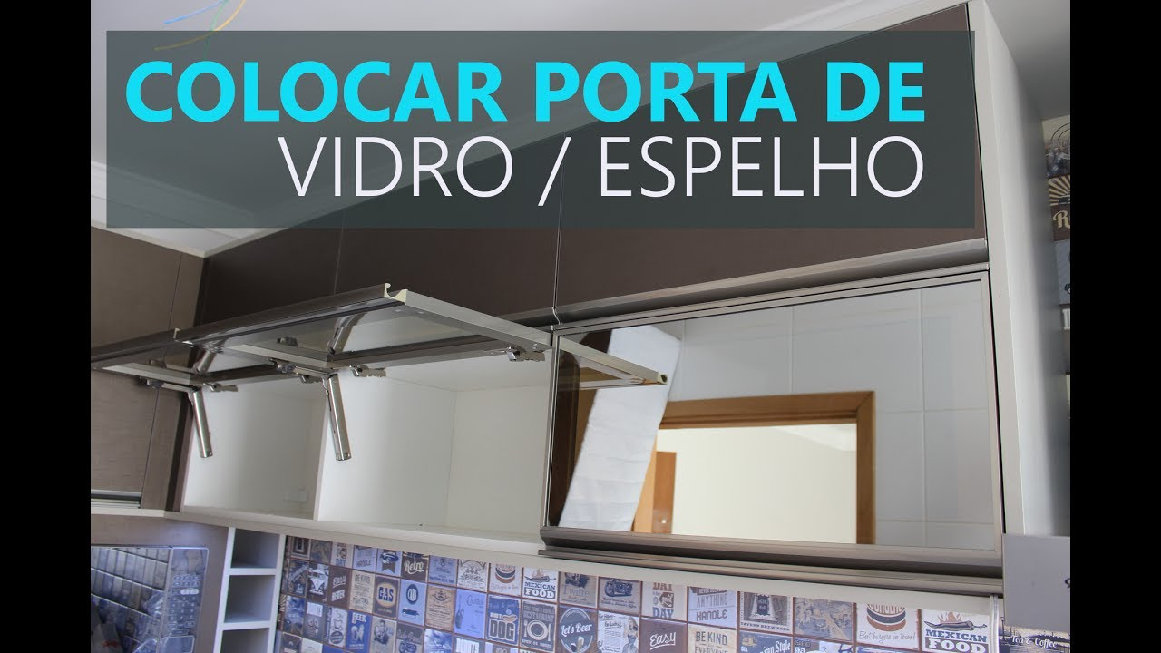 Colocando Porta de Vidro Basculante c/ Pistão Blum Aventos hk-xs