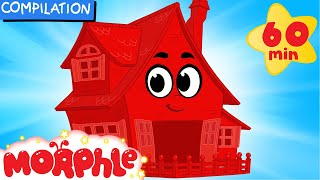 My Magic House (Learn About Animal Homes) + 1 hour My Magic Pet Morphle Mega Compilation For Kids!)