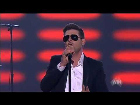 Baixar Robin Thicke Blurred Lines live on The Voice Australia