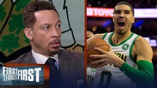 Chris Broussard says Kyrie is the key to Celtics trading Tatum for AD | NBA | FIRST THINGS FIRST