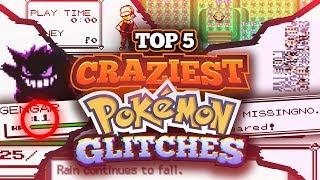 Top 5 Craziest Pokemon Glitches! Missingno, Acid Rain and More!