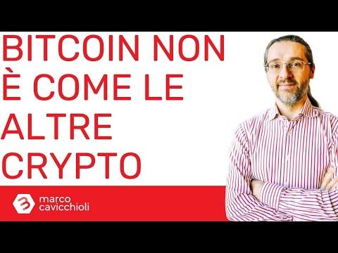 Bitcoin non è una criptovaluta (come le altre)
