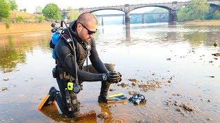 River Treasure: Exploring Creepy Dark Water!!! (Dangerous Boats)