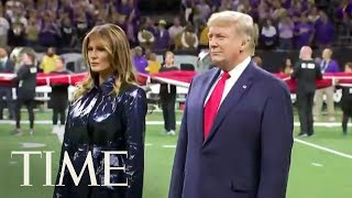 President Trump Gets Big Cheers At College Football Title Game | TIME