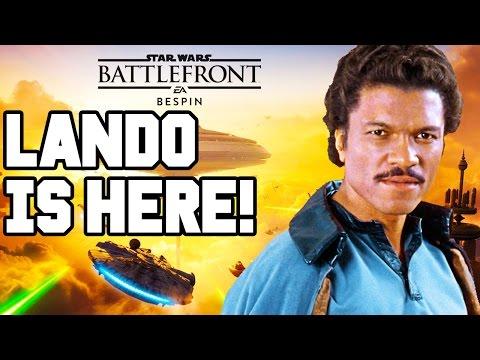 LANDO IS HERE!! Star Wars Battlefront DLC Gameplay - Bespin / DLC Heroes (Season Pass PS4)