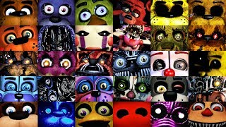 All FNAF JUMPSCARES in 6 Minutes! (2014-2019) | FNAF 1, 2, 3, 4, SL, PS, UCN, VR