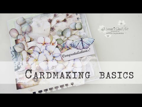 Easy Mixed Media Cardmaking ~ ✂️ Maremi's Small Art