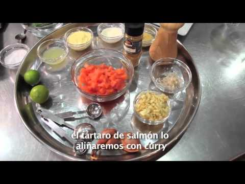 Salmon Tartar + Gran Reserva Serie Riberas Sauvignon Blanc