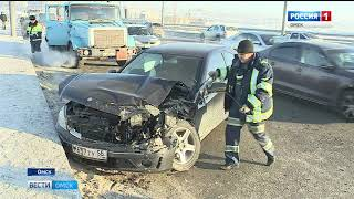 Очередная авария на мосту 60-летия ВЛКСМ