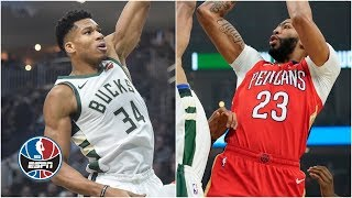 Giannis Antetokounmpo goes head-to-head with Anthony Davis in Bucks' win | NBA Highlights