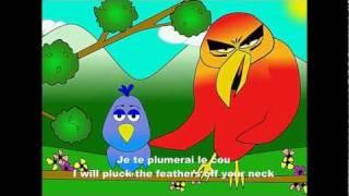 Alouette, gentille alouette - alain le lait (French body parts - for birds)