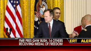 George H.W. Bush Receives Medal of Freedom