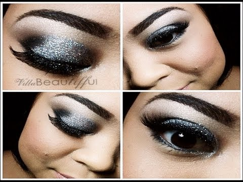 Silver Glittery Eye Makeup Tutorial Naked 1 Amp 2 Palette Villabeautifful Youtube
