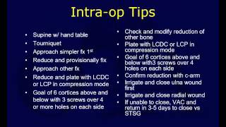 Forearm fractures - Surgical treatment (OTA lecture series IV u09b)