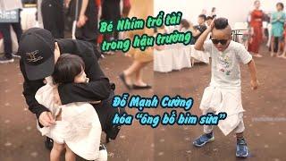 Đỗ Mạnh Cường chăm con cực kỹ, Bé Nhím nhảy điêu luyện ở hậu trường Vietnam Junior Fashion Week