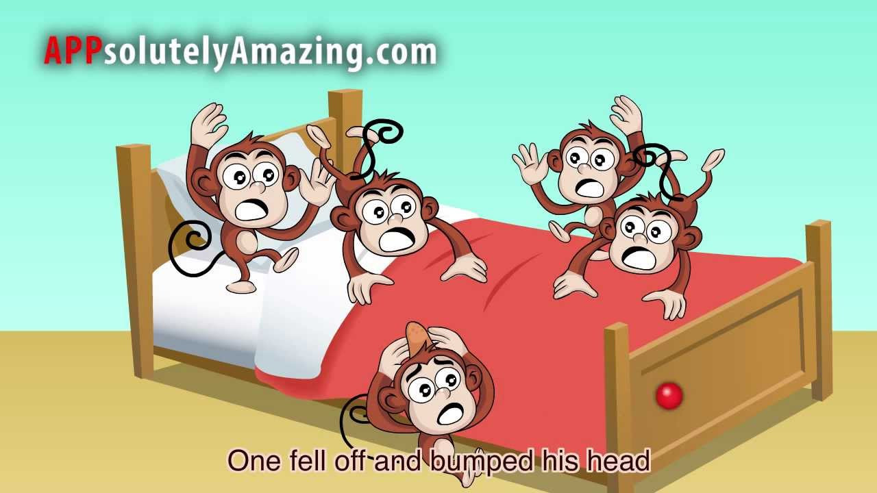 Five little monkeys jumping on the bed - YouTube