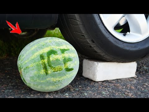 Crushing Crunchy & Soft Things by Car! - ICE WATERMELON vs CAR