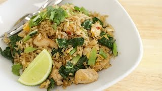 Thai Chicken Fried Rice Recipe ข้าวผัดไก่ - Hot Thai Kitchen