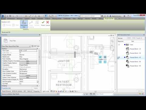 Revit 2017 - What's New Fabrication Layout Improvements