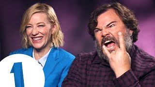 """""""You fell in a gopher hole!"""": Cate Blanchett & Jack Black answer stupid questions"""
