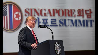 Trump gives press conference after summit with Kim Jong-un – watch live