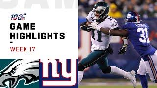 Eagles vs. Giants Week 17 Highlights   NFL 2019