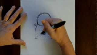 How To Draw A Cartoon Handbag Easy Drawing Tutorial With Doodleacademy You