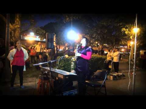 2012年4月4日街頭藝人張玉霞~~薩克斯風~流浪姊妹花(陳芬蘭)