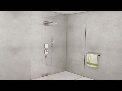 Hansgrohe Rainmaker Select 580 3Jet Overhead Shower - White/Chrome - Ecosmart