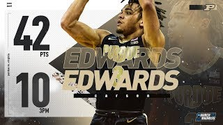 Purdue's Carsen Edwards poured on 42 points in the Elite 8