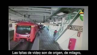 Puebla Earthquake September 19, 2017 M7.1 earthquake - Shaking Subway Mexico City