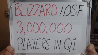 BLIZZARD Lose 3,000,000 PLAYERS in Q1 !!