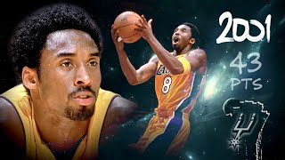 Kobe Bryant Scores 43 Pts, HUGE 2nd Half Defeating the Rival Spurs - Dec 1, 2000 (Full Highlights)