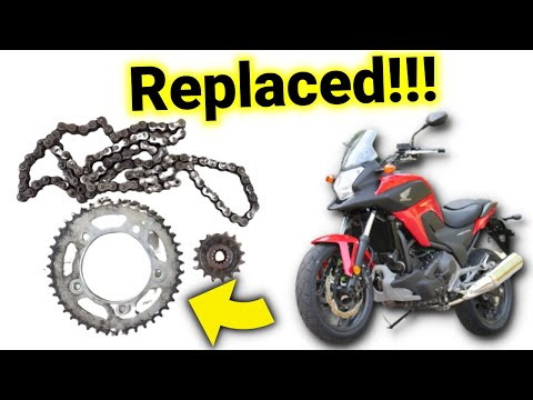 Motorcycle Chain and Sprocket Replacement Highlights