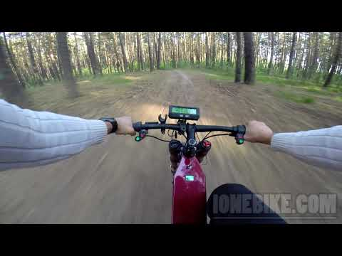 Forest electrc bike riding, road video