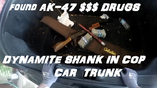 Broke into cop car trunk and found ak47 $$ drugs crown rick auto p71vic victoria police interceptor