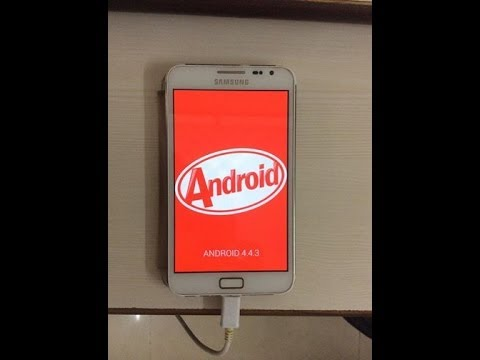 Android 4.4.3 KitKat (OmniROM) on Galaxy Note GT-N7000 - Video
