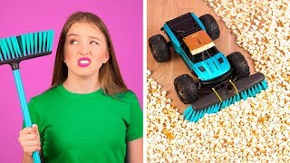 GENIUS HACKS FOR LAZY PEOPLE    Easy Funny Cleaning Hacks And Tricks by 123 GO!