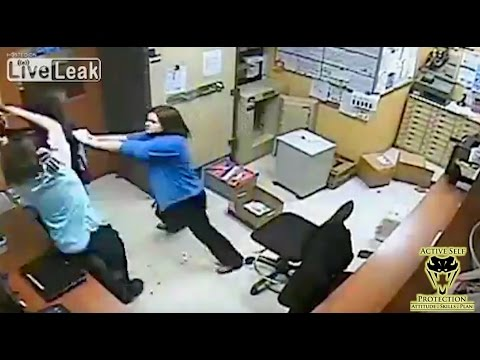 Team Of Clerks Dominate Criminal   Active Self Protection