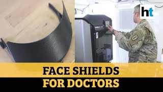 Covid-19: US forces use 3D printers to make face shields f..