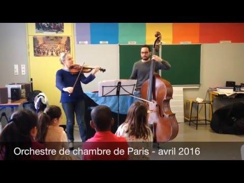 Parcours découverte des instruments – violon et contrebasse