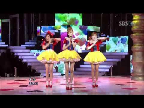 Orange caramel - Aing (오렌지 캬라멜 - 아잉) @ SBS Inkigayo 인기가요 100808