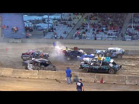 Monroe county fair 2018 Demolition Derby Feature (6pm show)