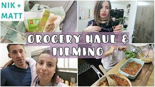 GROCERY HAUL, FILMING & GET READY WITH ME | NIK + MATT VLOG 38