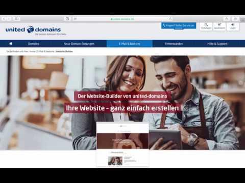 In drei Minuten zur eigenen Website | Der Homepage-Baukasten von united-domains